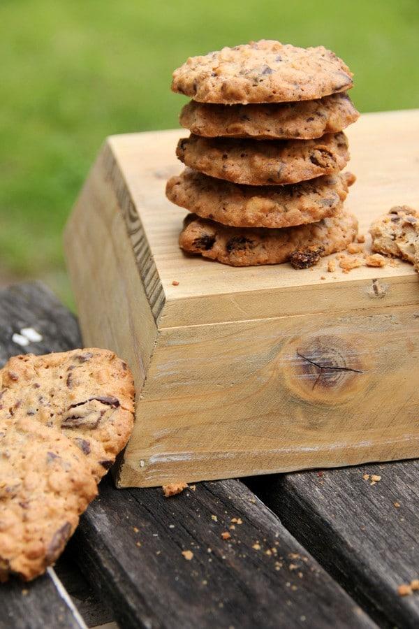 Gesunde Krunch-Erdnuss-Schoko Kekse