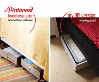 Aufbewahrungs- möglichkeit unter dem Bett!