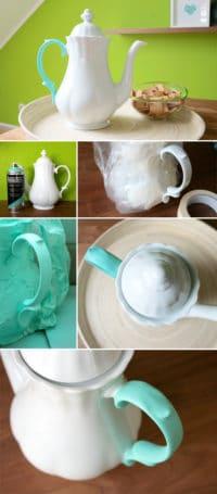 Teekanne mit Farbakzent