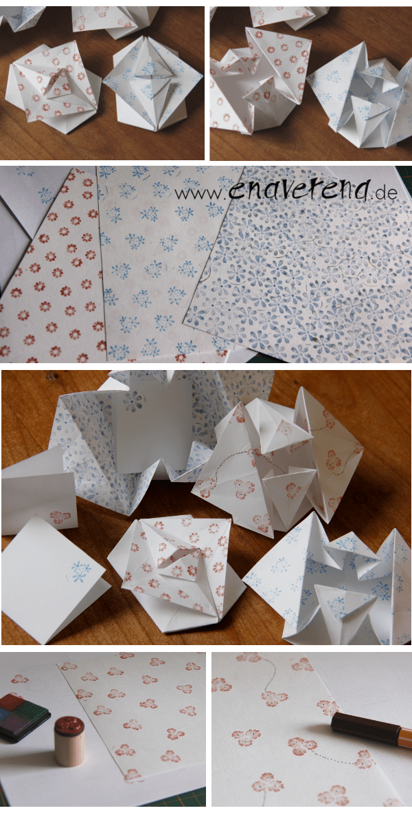 Origami-Falttechnik mit Foto-Anleitung