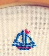 Sticke ein Schiffchen