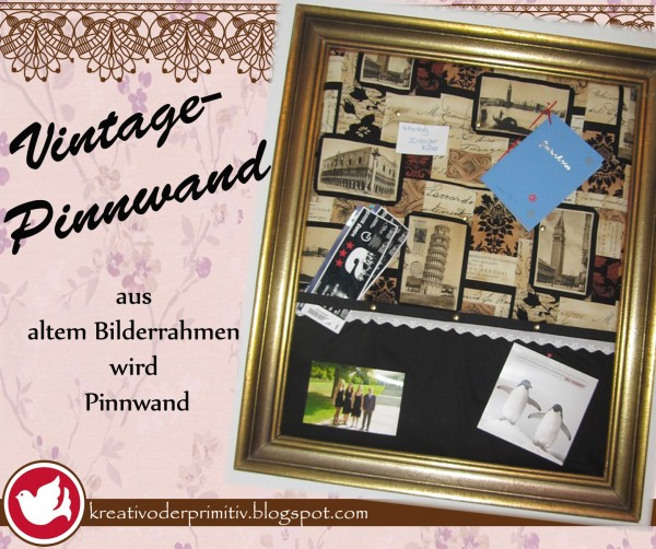 vintage pinnwand handmade kultur. Black Bedroom Furniture Sets. Home Design Ideas