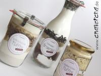 Backmischung im Glas für Muffins & Brownies
