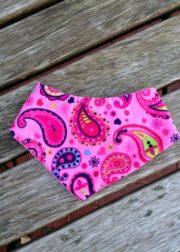 Halstuch mit Fleecerückseite - Paisley pink