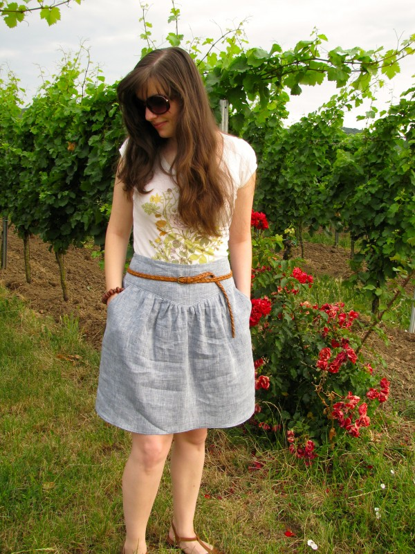 Meikes erster Sewaholic Crescent Skirt