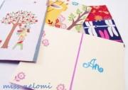 Postkarten aus Stoffresten