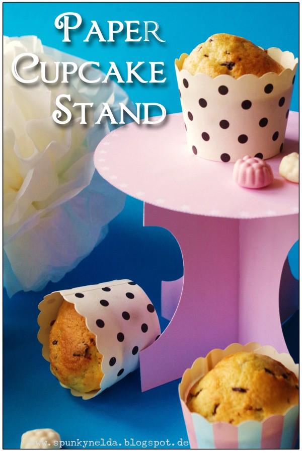 Free printable Cupcake Stand | oder: Verrückte Papierbastelei