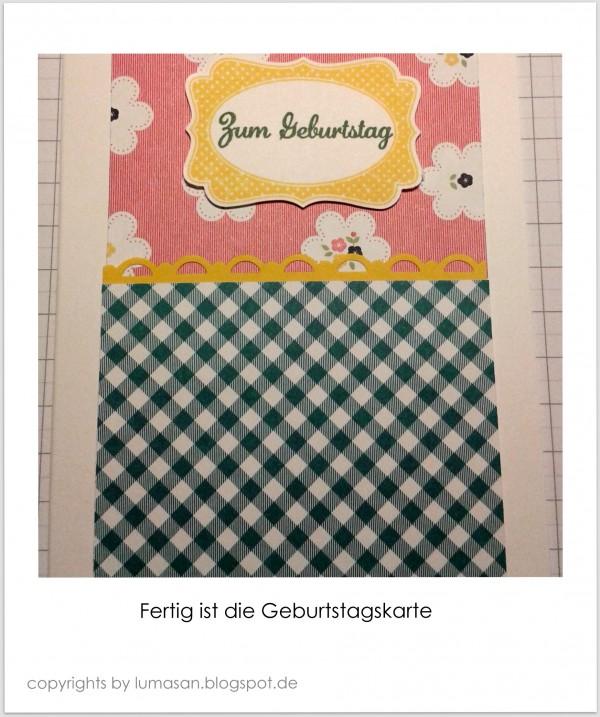 Die Geburtstagskarte - Dekoratives Etikett