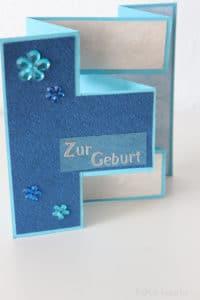Zick-Zack Karten falten