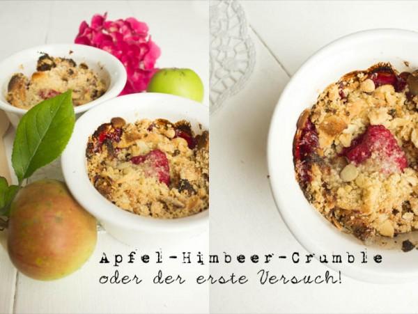 Apfel-Himbeer-Crumble