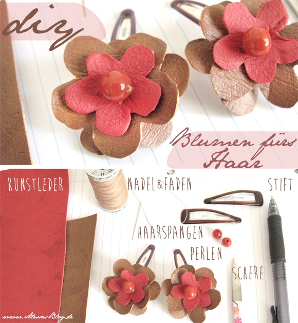 Haarblüten aus Kunstleder