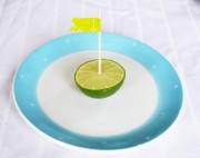 Partydeko: Limettentischkarten