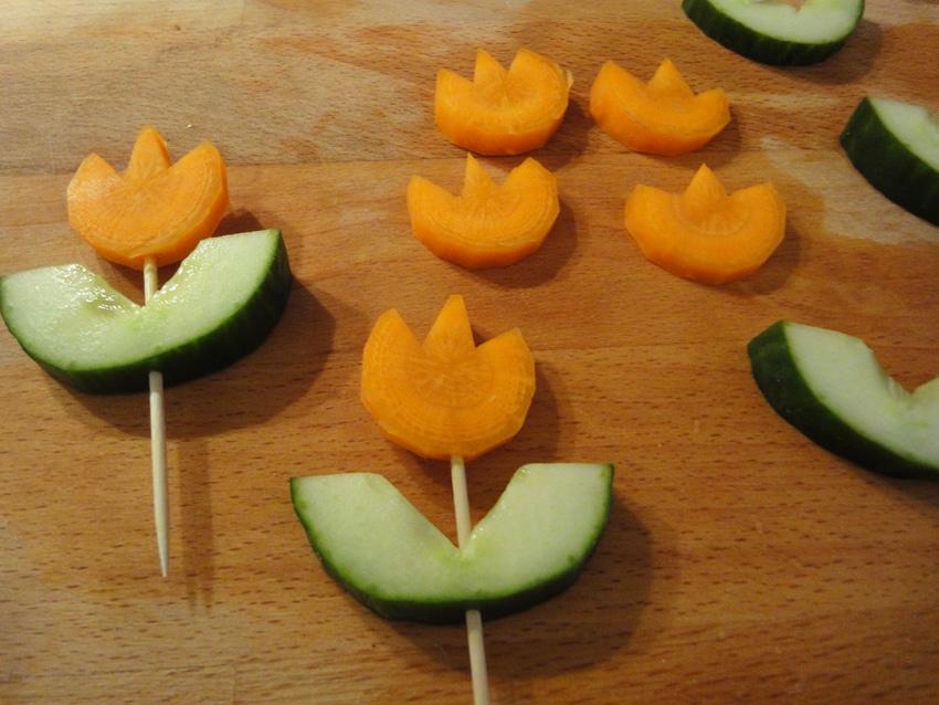 Gem se tulpen zum anbei en handmade kultur - Gurken dekorativ schneiden ...