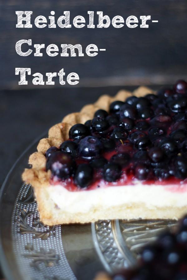 Heidelbeer-Creme-Tarte