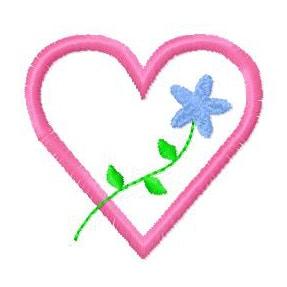 Flicken mit Herz - Freebie Stickdatei