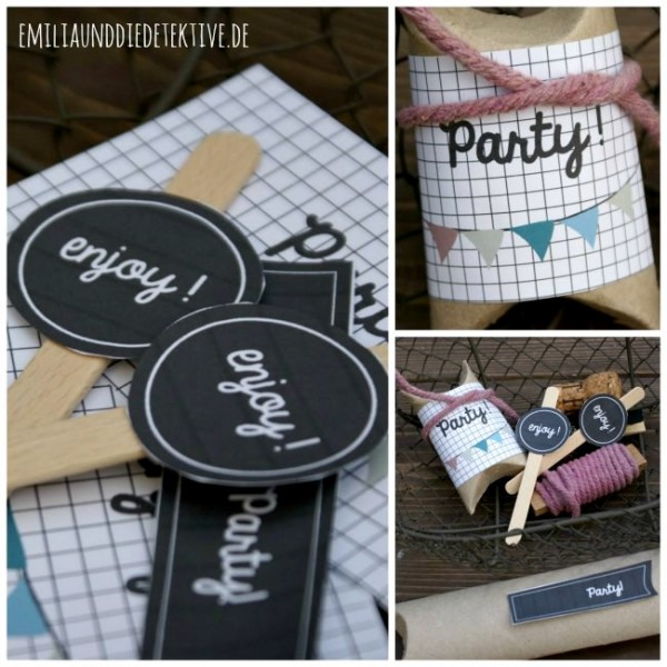 DIY - Party Label Set