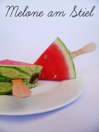 Melone am Stiel