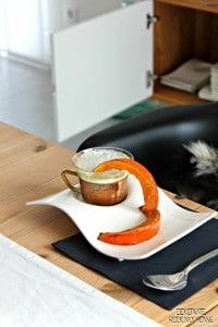 Kürbissuppe mit Kürbischips