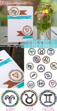 Freebies zum Ausdrucken: Sternzeichen