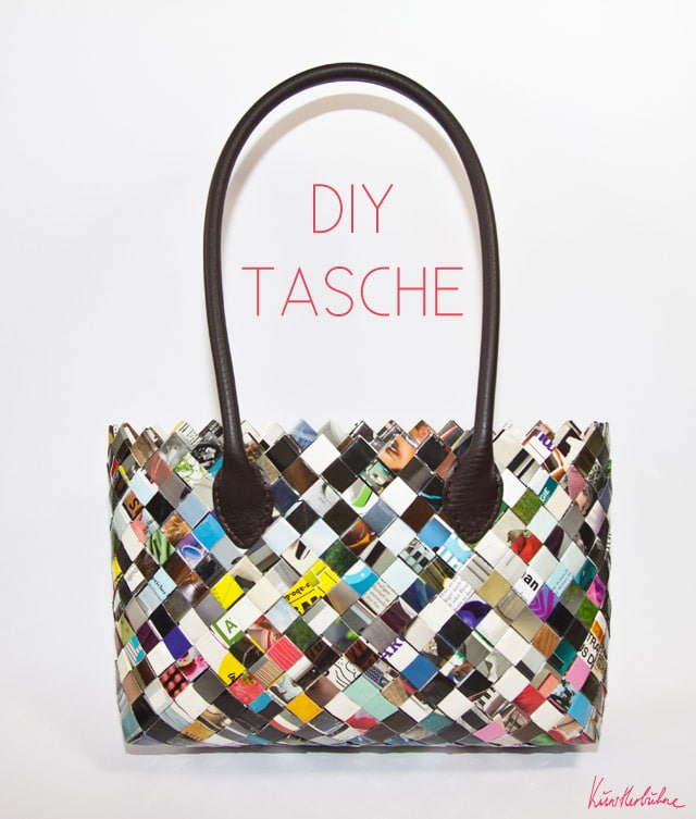 diy taschen selber machen aus zeitschriften handmade kultur. Black Bedroom Furniture Sets. Home Design Ideas