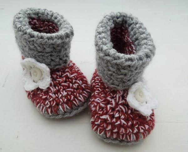 Warme Babystiefelchen für kalte Tage....