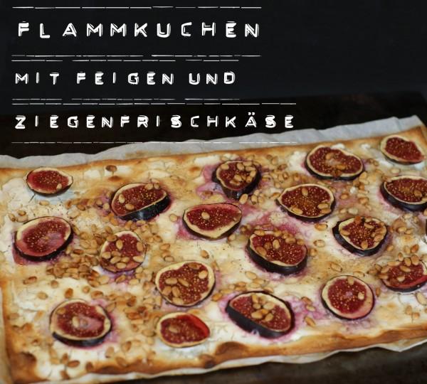 Flammkuchen mit Feigen und Ziegenfrischkäse