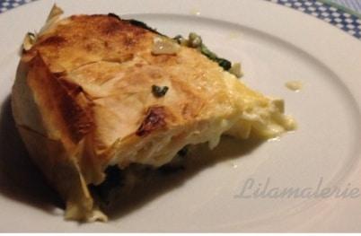 Spinat-Schafskäse-Yufka-Pastete