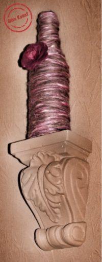 In-Wolle-Gewickelte-Flaschen-Vase