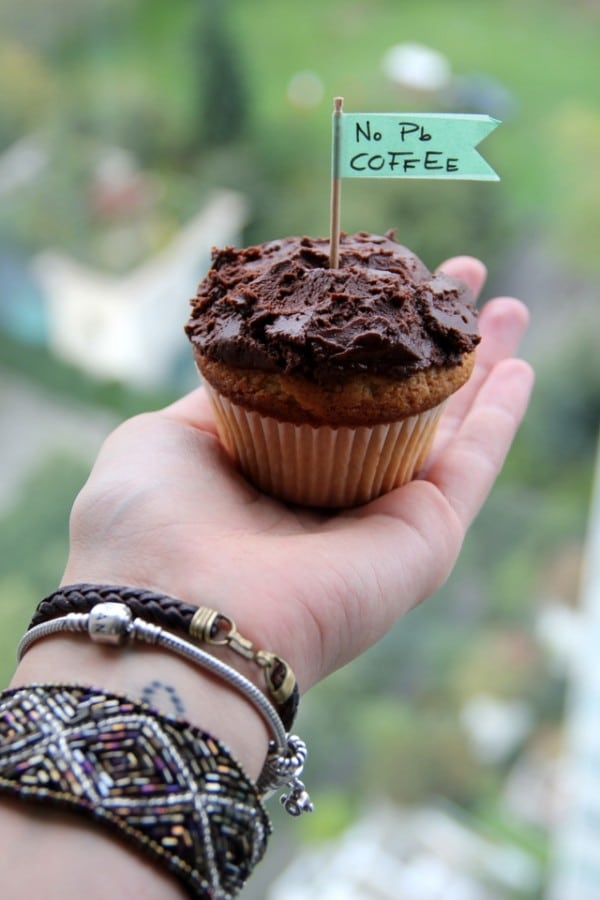 Erdnussbutter-Schoko-Kaffee-Cupcakes