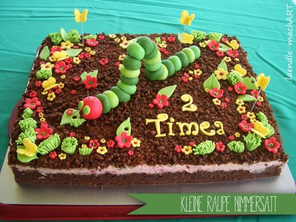 Kleine Raupe Nimmersatt Große Torte Für Kleine Menschen Handmade
