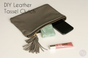 DIY Leder Clutch mit Quasten - mit Tricks zum einfachen Nähen von Leder