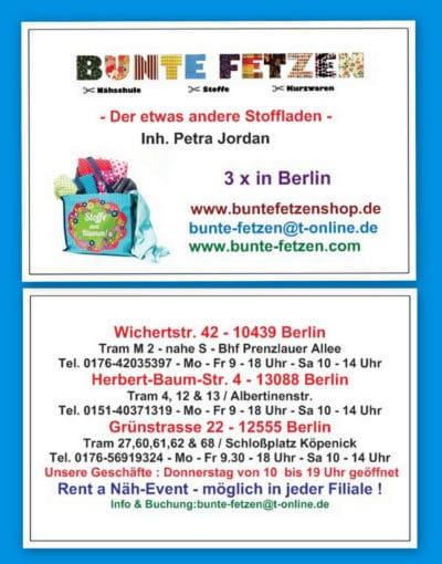 Stoffhandel und Nähschule Bunte Fetzen® in Berlin
