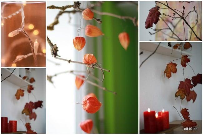 Bl tter regen handmade kultur - Herbstdeko basteln fur fenster ...