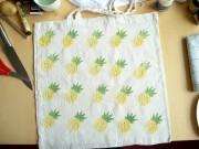 Stoffdesign Ananas