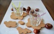 Kork-Wölkchen und herbstliche Tischdeko
