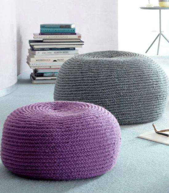 Gehäkelte Sitzpoufs In Zwei Größen Handmade Kultur