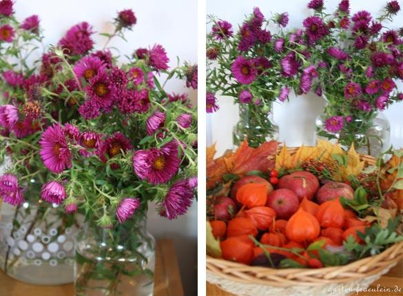 Herbstdeko mit Lampionblumen  Handmade Kultur