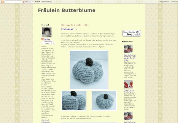 Fräulein Butterblume