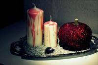 Blutig-glitzernde Halloweendeko