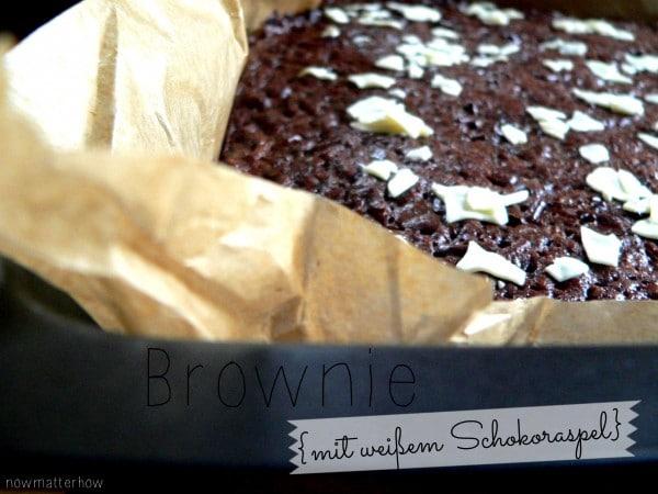 Brownies {mit weißem Schokoraspel}