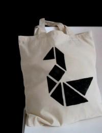 Blitzschnelle grafische Stofftasche im Tangram-Style