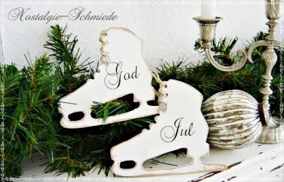 schlittschuhe weihnachtsdekoration geschenke bei handmade kultur. Black Bedroom Furniture Sets. Home Design Ideas