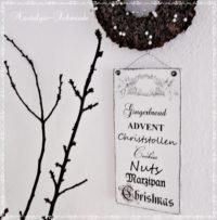 Dekoschild Shabby Winter Weihnachten