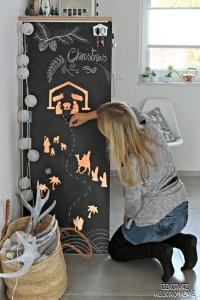 Die Weihnachtsgeschichte als Aufkleber in Kupfer