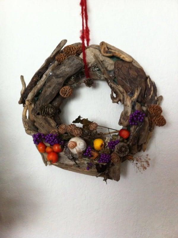DIY: Türkranz aus Treibholz