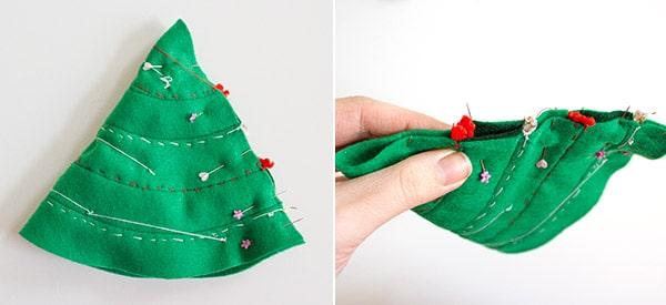 weihnachtsmann und weihnachtsbaum aus filz handmade kultur. Black Bedroom Furniture Sets. Home Design Ideas