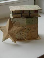 Mini-Adventskommode aus Streichholzsschacheln