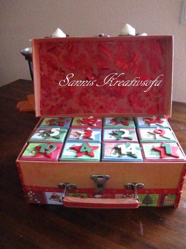 Adventkalender Koffer