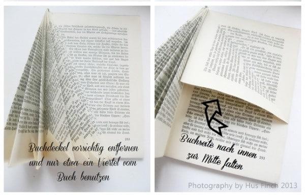 Baum aus altem Buch DIY