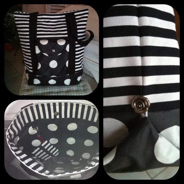 Pattydoo Shopper in schwarz/weiß